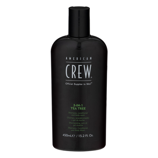 American Crew 3-in-1 Tea Tree Men Shampoo, Conditioner and Body Wash