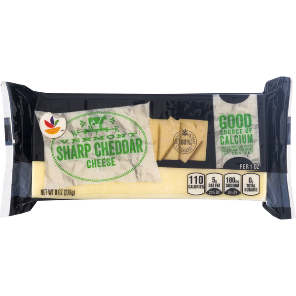 Giant Vermont Cheddar Cheese Sharp Chunk Natural