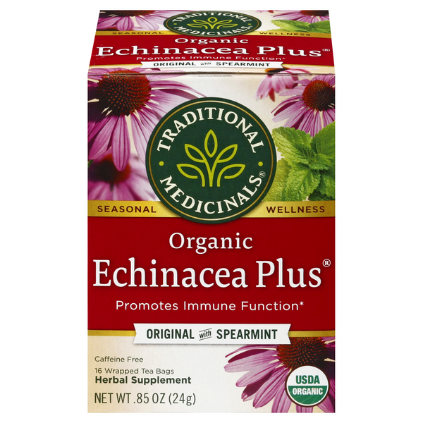 Traditional Medicinals Echinacea Plus Herbal Tea Bags Organic