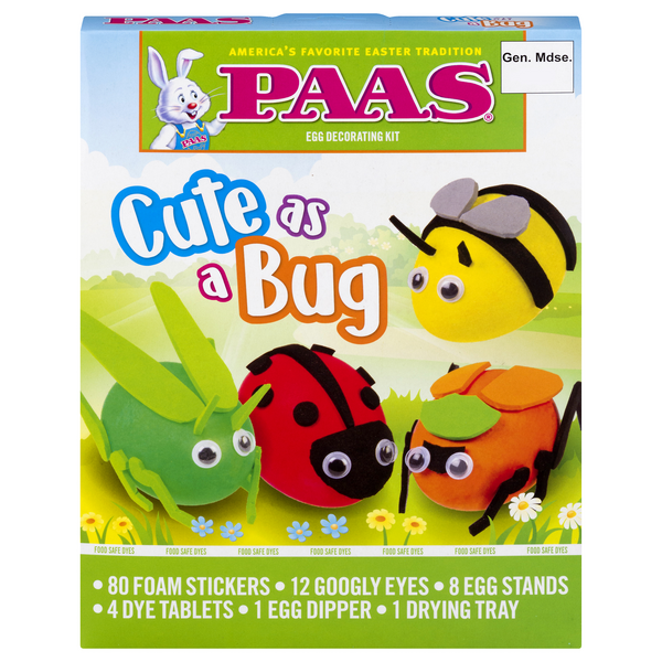 PAAS Easter Egg Decorating Kit Cute as a Bug Egg
