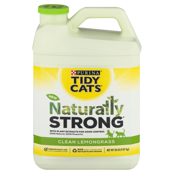 Tidy Cats Naturally Strong Clumping Cat Litter Clean Lemongrass