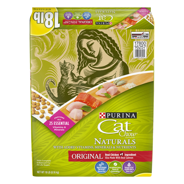 Purina Cat Chow Naturals Original Dry Cat Food Chicken & Salmon