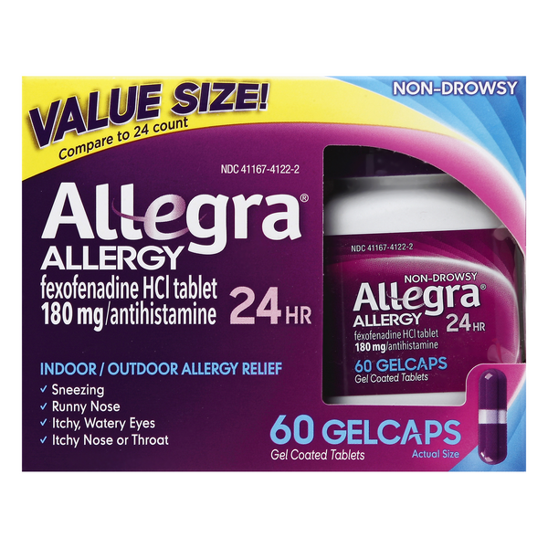 Allegra Indoor/Outdoor Allergy Relief Gelcaps