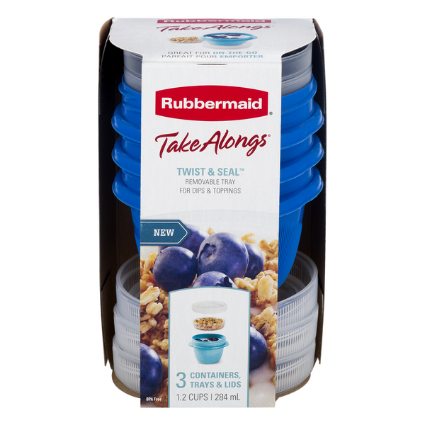Rubbermaid Take Alongs with Removable Tray 1.2 cup