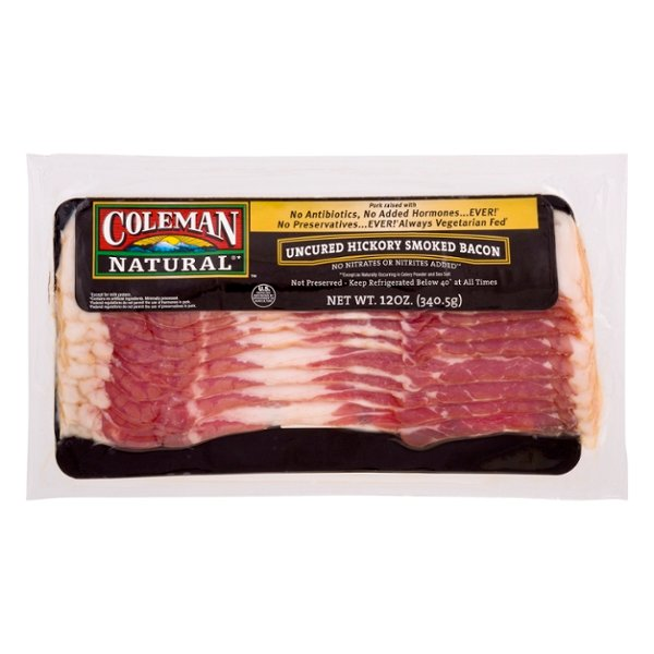 Coleman Natural Bacon Uncured Hickory Smoked