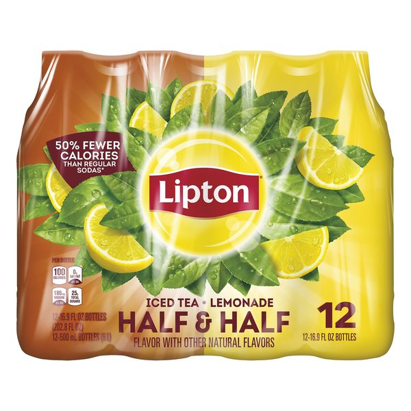 Lipton Half & Half Iced Tea & Lemonade - 12 pk