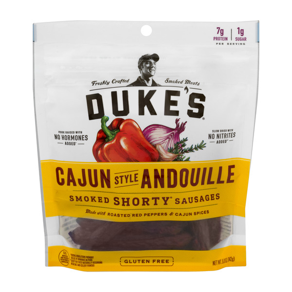 Duke's Smoked Shorty Sausages Cajun Style Andouille Gluten Free