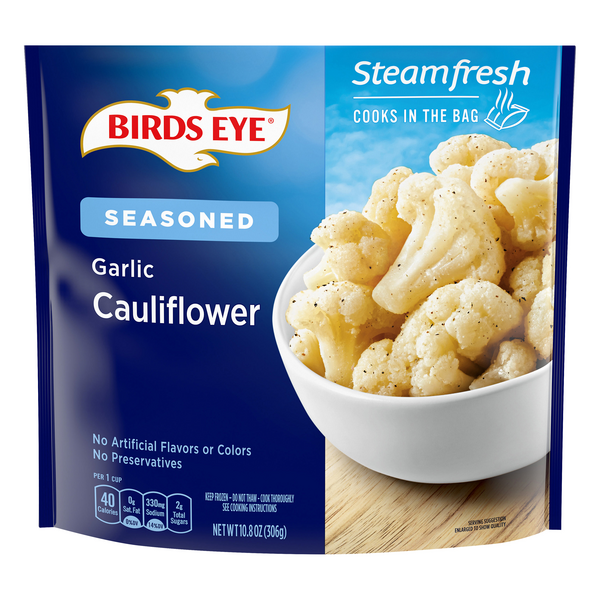 Birds Eye Steamfresh Cauliflower Florets Seasoned Garlic