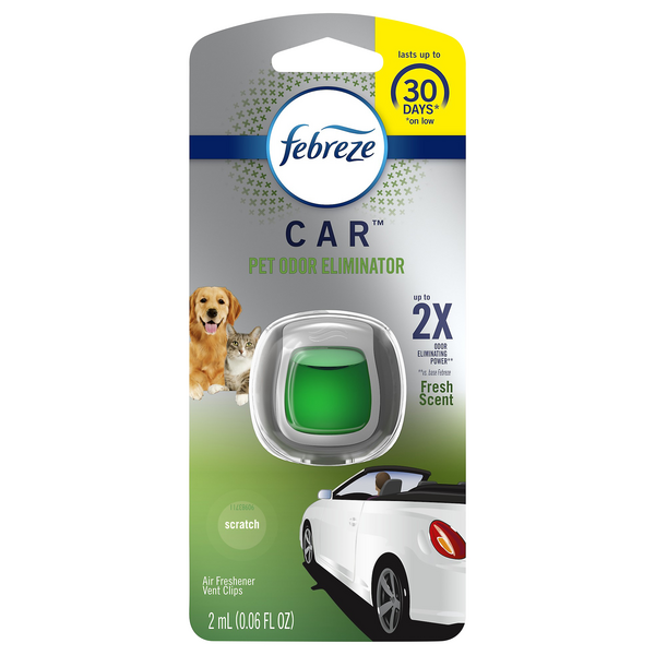 Febreze Car Heavy Duty Pet Odor Eliminator Fresh Scent