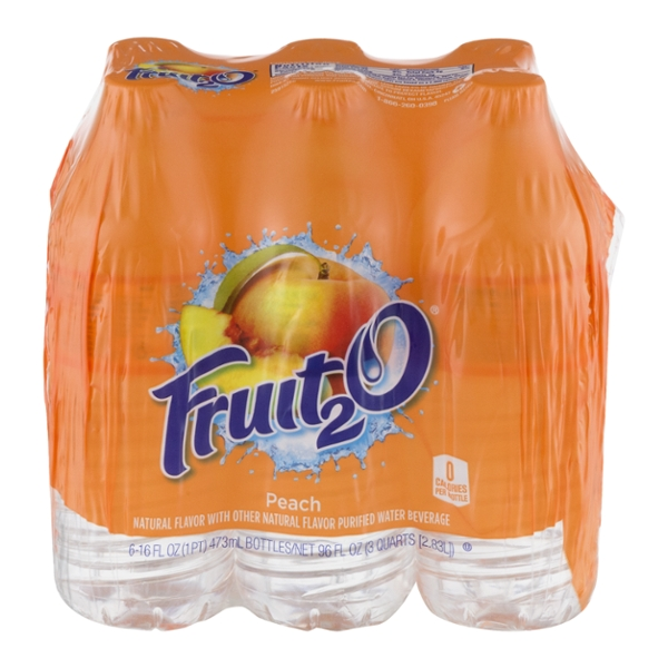 Fruit2O Natural Peach Flavored Water - 6 pk
