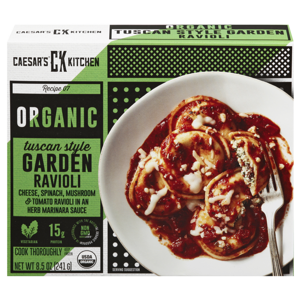 Caesar's Kitchen Organic Goodness 4 Cheese Ravioli Spinach & Tomato