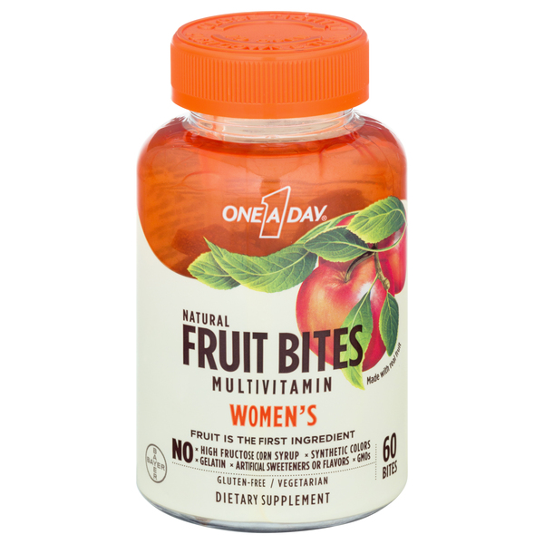 One A Day Women's Multivitamin Supplement Natural Fruit Bites Gluten Free