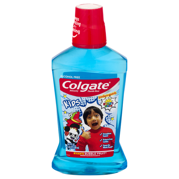 Colgate Kids Anticavity Mouthwash Ryan's World Bubble Fruit