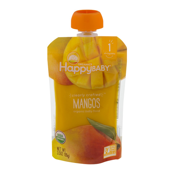 HappyBaby Stage 1 Baby Food Mangos Organic