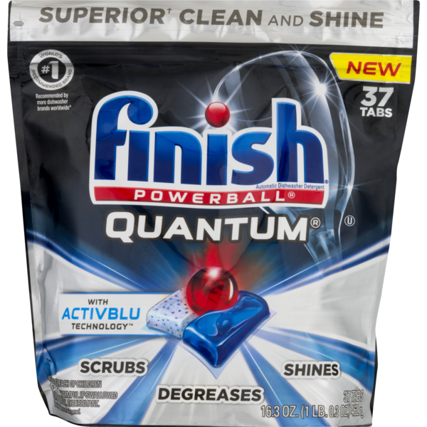 FINISH Powerball Quantum Dishwasher Detergent Tabs