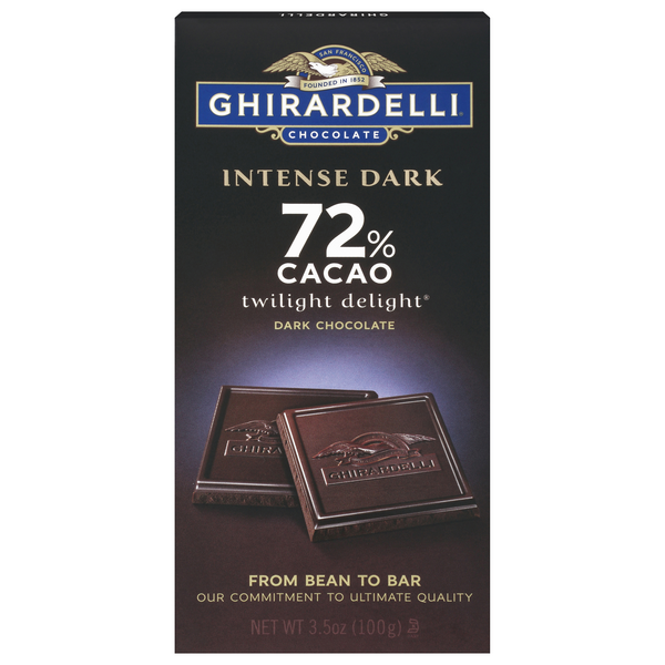 Ghirardelli Intense Dark Chocolate Twilight Delight 72% Cacao All Natural