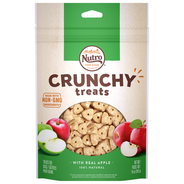 Nutro Crunchy Dog Treats with Real Apple 100% Natural