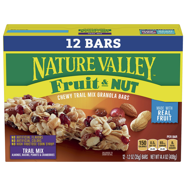Nature Valley Fruit & Nut Chewy Trail Mix Granola Bars - 12 ct