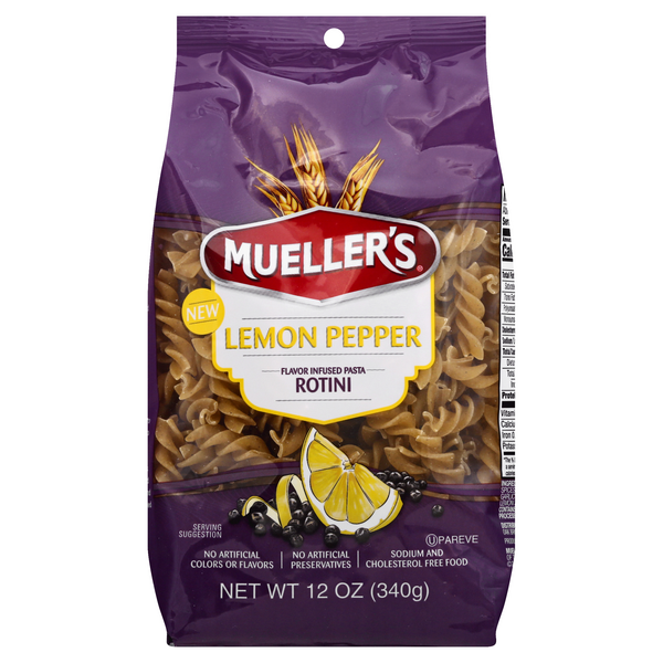 Mueller's Pasta Rotini Lemon Pepper