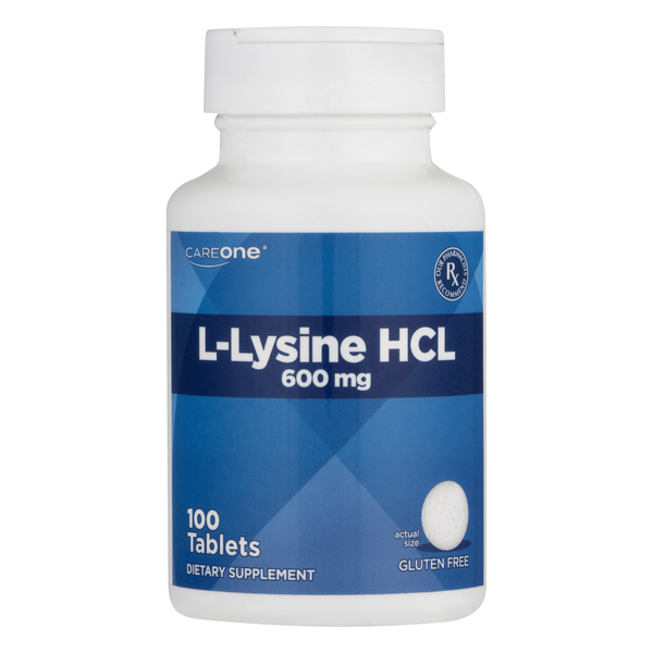 CareOne L-Lysine HCL 600 mg Tablets Gluten Free