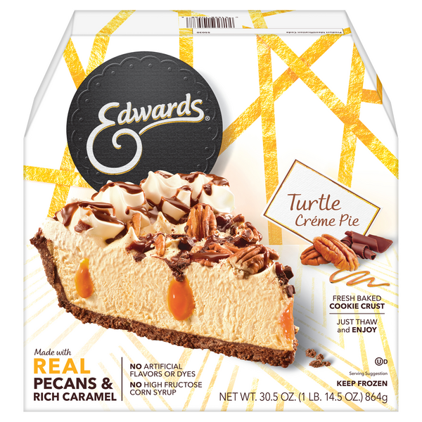 Edwards Pie Turtle Creme Thaw & Serve Frozen