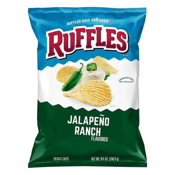 Ruffles Potato Chips Jalapeno Ranch
