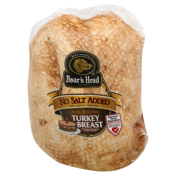 Boar's Head Deli Oven Roasted Turkey Breast No Salt Added (Regular Sliced)
