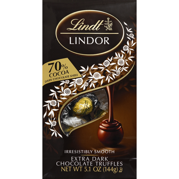 Lindt Truffles Extra Dark Chocolate 70% Cocoa