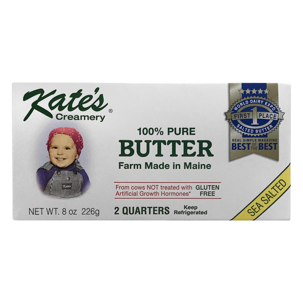Kate's Creamery 100% Pure Butter Sea Salted Sticks Gluten Free - 2 ct
