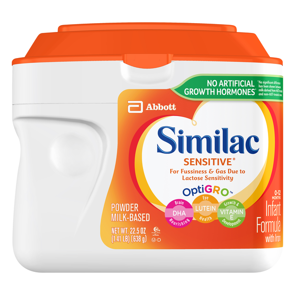 Similac Sensitive Infant Formula For Fussiness & Gas with Iron Powder