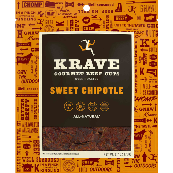 Krave Beef Jerky Sweet Chipotle All Natural