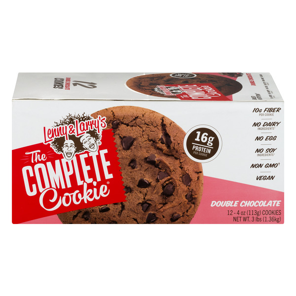 The Complete Cookie Double Chocolate Cookies Vegan - 12 ct