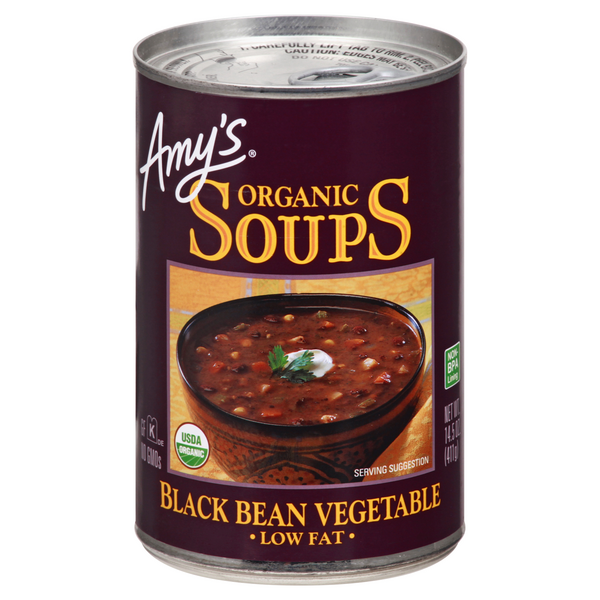 Amy's Black Bean Vegetable Soup Low Fat Organic