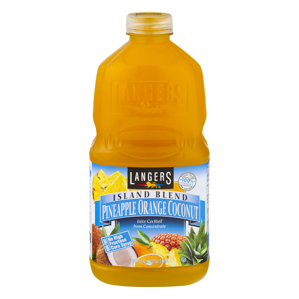 Langers Island Blend Pineapple Orange Coconut Juice Cocktail