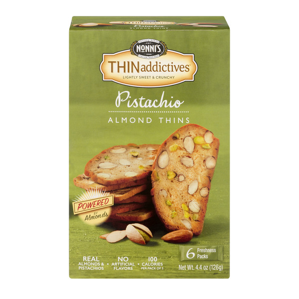 Nonni's THINaddictives Almond Thins Pistachio - 6 pk
