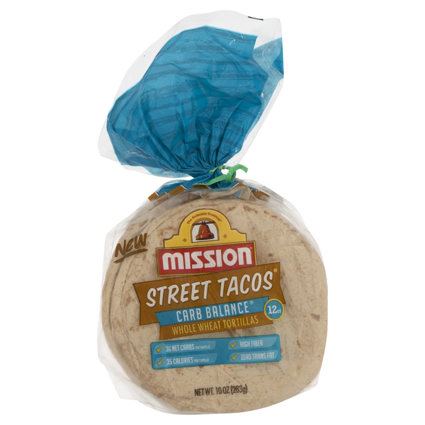 Mission Street Tacos Carb Balance Whole Wheat Tortillas - 12 ct