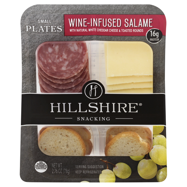 Hillshire Snacking Small Plates Wine-Infused Salame with White Cheddar