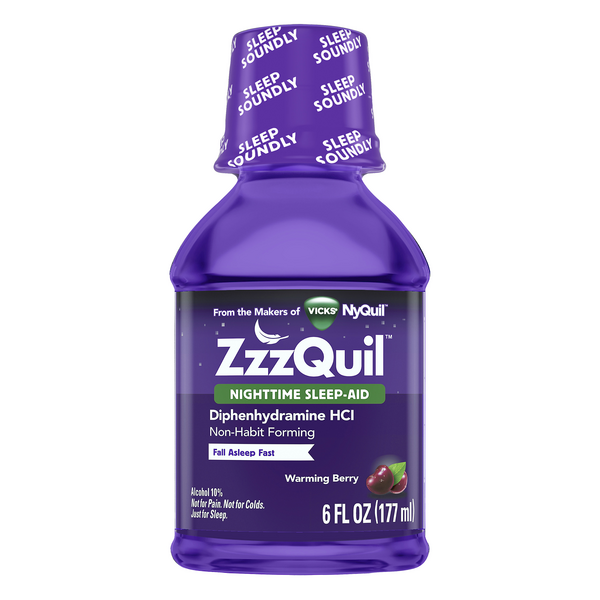 Vicks ZzzQuil Nighttime Sleep-Aid Liquid Warming Berry
