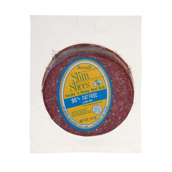 Seltzer's Slim Slices Beef Roll Smoke 'n Honey 95% Fat Free