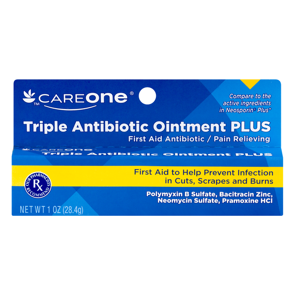 CareOne Triple Antibiotic Ointment Plus