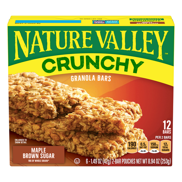 Nature Valley Crunchy Granola Bars Maple Brown Sugar - 12 ct