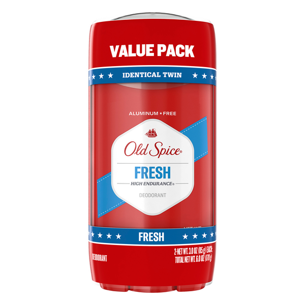 Old Spice Men High Endurance Deodorant Fresh Solid - 2 ct