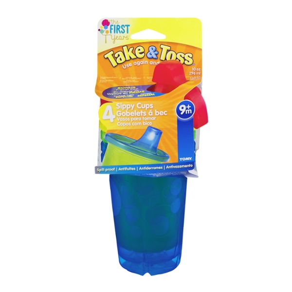 The First Years Take & Toss Cups Spill Proof BPA Free 10 oz