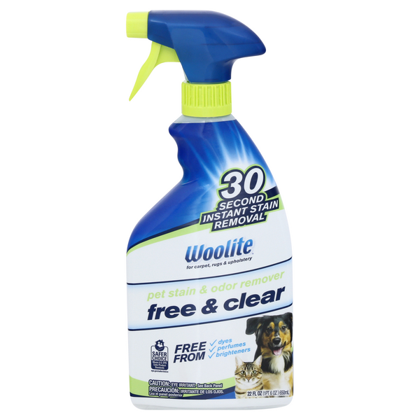 Woolite Pet Stain & Odor Remover Free & Clear Trigger Spray
