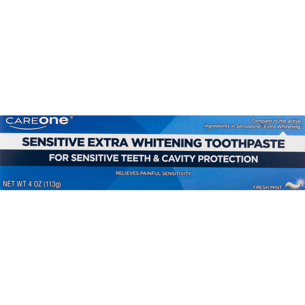 CareOne Sensitive Toothpaste Extra Whitening Maximum Strength