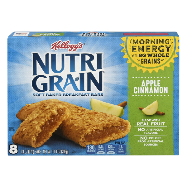 Kellogg's Nutri-Grain Breakfast Bars Soft Baked Apple Cinnamon - 8 ct