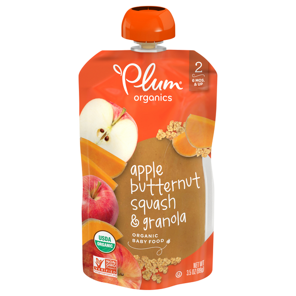 Plum Organics Stage 2 Baby Food Apple Butternut Squash & Granola