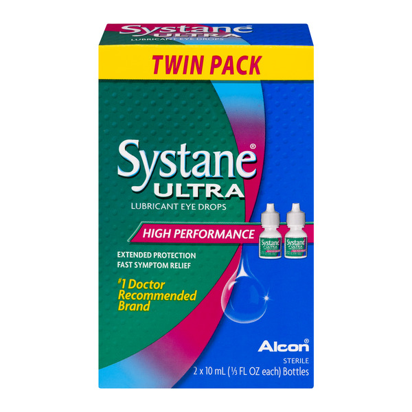 Systane Ultra Lubricant Eye Drops High Performance - 2 pk