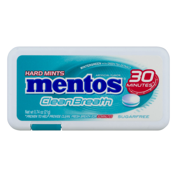 Mentos Clean Breath Hard Mints Wintergreen