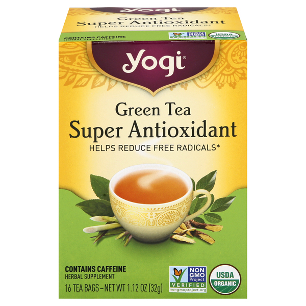 Yogi Super Antioxidant Tea Bags Green Tea
